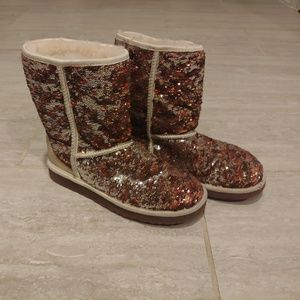Ugg Australia Sparkles Boots Brown Suede Sz 7